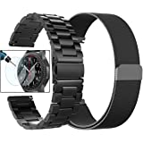 Gear S3 Frontier/Classic Watch Bands, Valkit 22mm Stainless Steel Band + Milanese Loop Mesh Replacement Bracelet Metal Strap for Samsung Gear S3 Frontier/S3 Classic Smart Watch