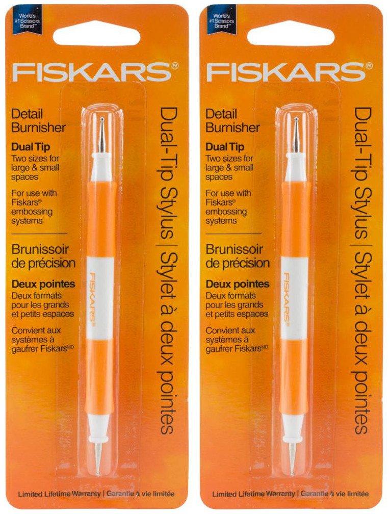 [2-Pack] - Fiskars Dual-Tip Stylus Embossing Tool (5606F) Sundance