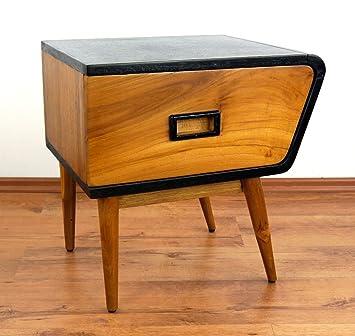 Java Retro Kommode Aus Teakholz | Vintage Schubladenschrank Aus Massivholz  | Nachtschrank Der Marke Asia Wohnstudio