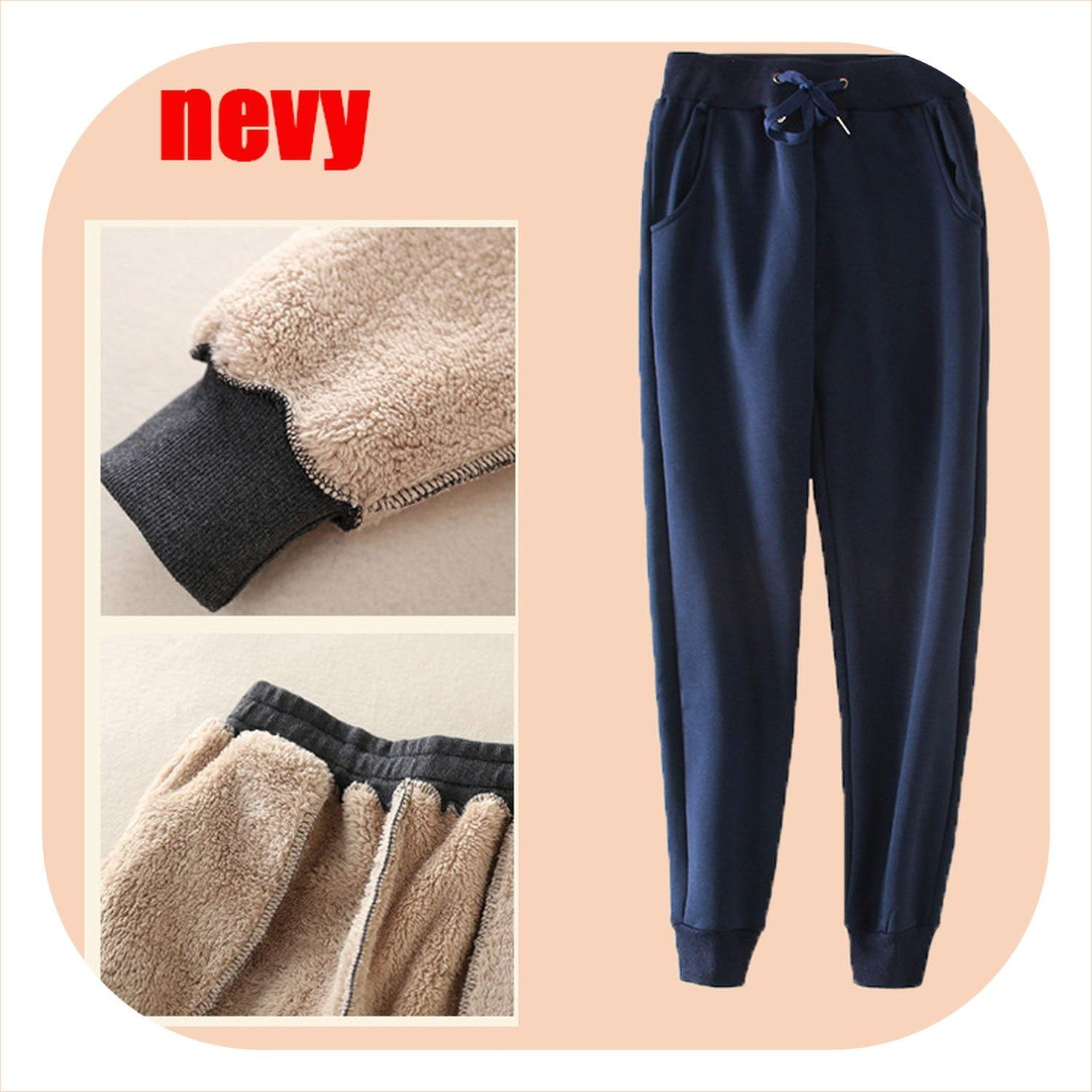 Not you Harem Pants Trousers Plus Lambs Velvet Thicken Loose high Waist Warm Cotton Casual Pants