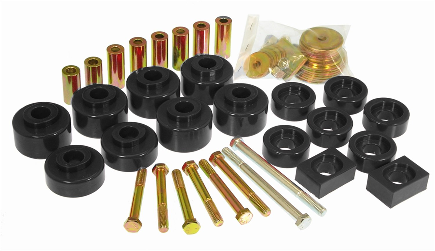 Prothane 6-107-BL Black Body and Cab Mount Bushing Kit - 20 Piece by Prothane