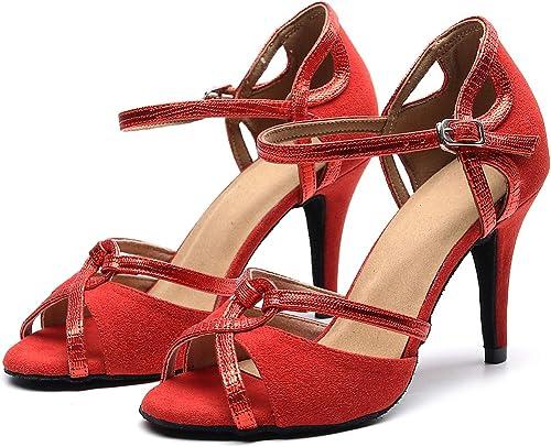 Goettin Professional Latin Dance Shoes Satin Salsa Dancer Shoes Ballroom Tango Dancing Shoes for Women with 3.5 Heel by FBA