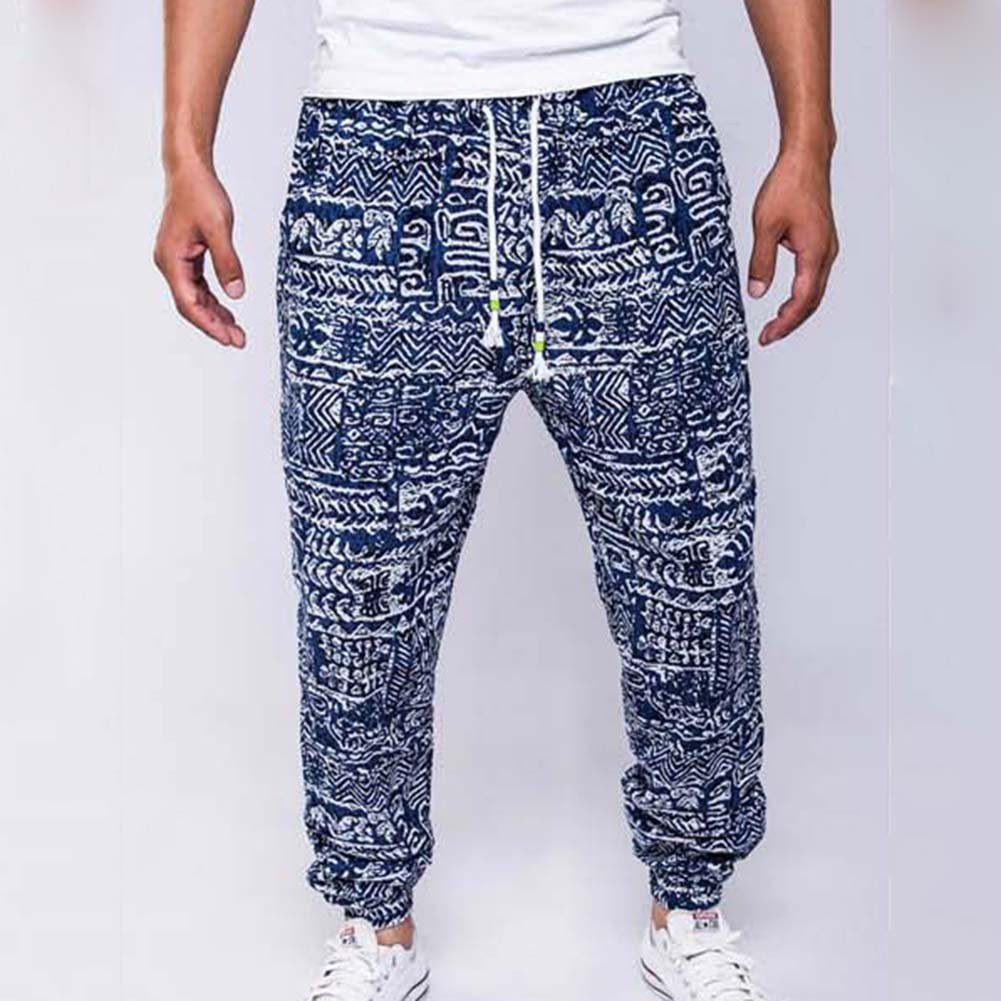 Zhuhaitf Breathable Linen Joggers Trousers 3D Printing Casual Pants For Mens Teens