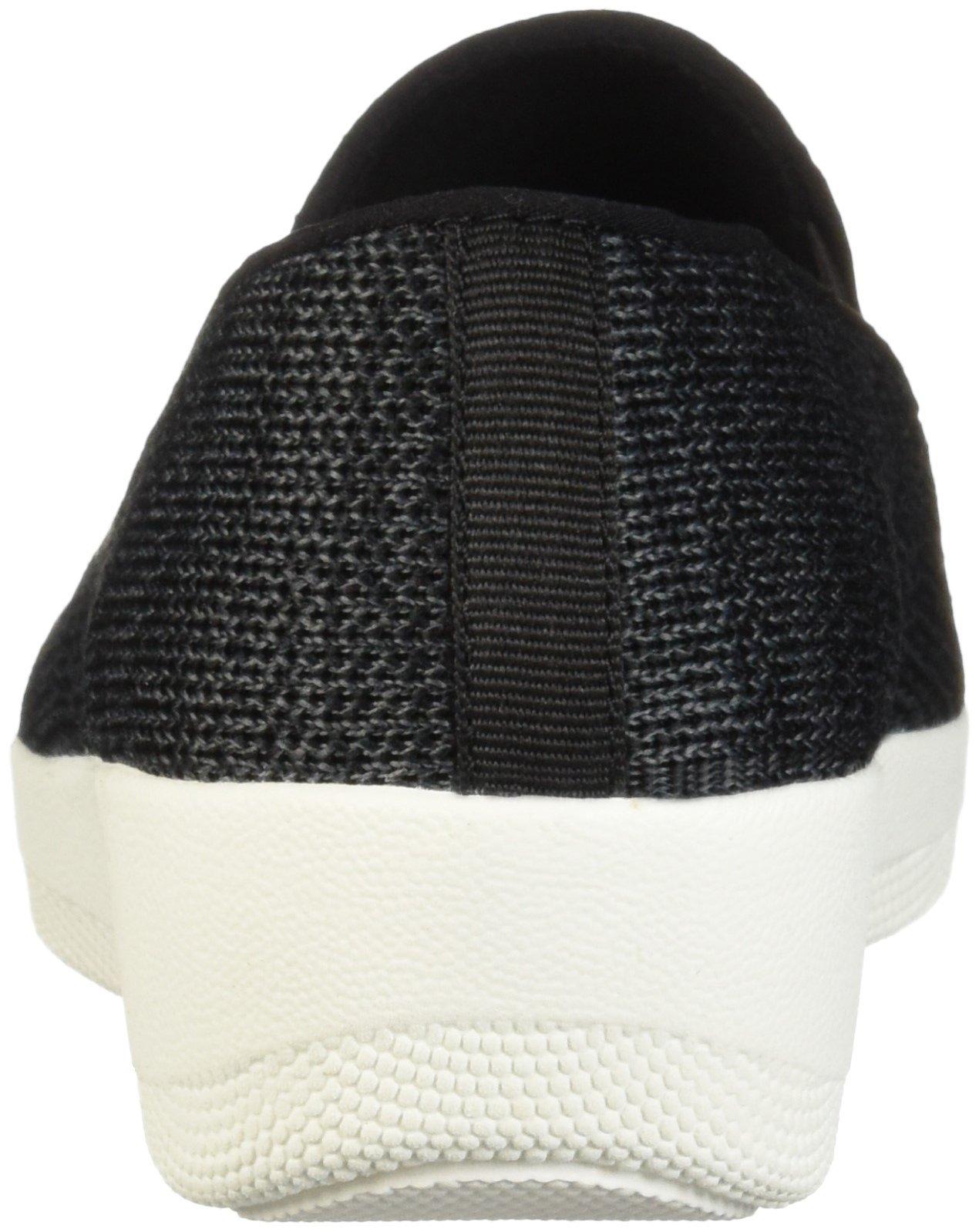 FitFlop Women's Superskate Uberknit Loafers, Black/Soft Grey, 8.5 M US by FitFlop (Image #2)