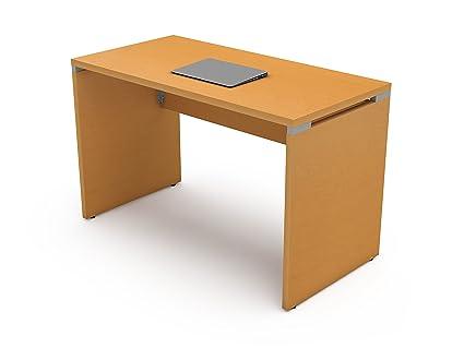 Modelos De Escritorios Para Oficina.Escritorio Para Computadora Oficina O Estudio Linea Italia Modelo Stark Grande 120 Cms Color Maple Aluminio
