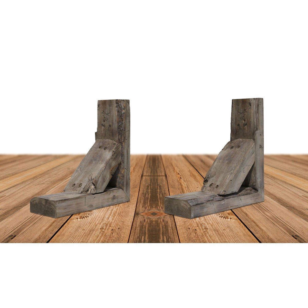 Ekena Millwork BKTB03X08X08TRPG-CASE-2 Wood Bracket, 3 1/2'' W D x 8'' H, Pebble Grey