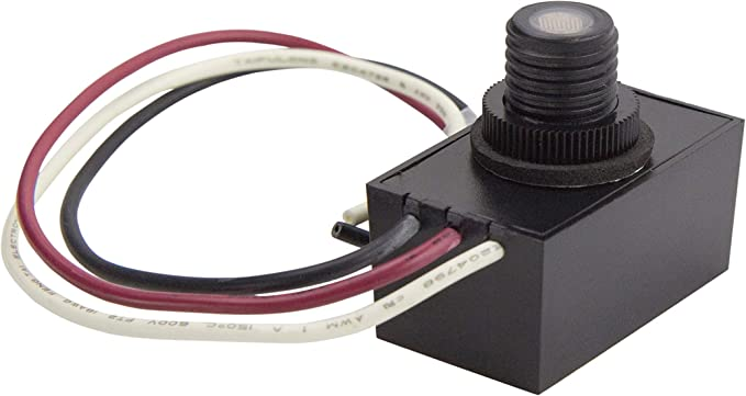 Solus SPC-688 120V Automatic Dusk to Dawn Photocell Photo Control Light  Sensor Switch for Hardwire Outdoor Lamp Posts, Works with Most Fixtures and  Bulbs, Black - - Amazon.comAmazon.com