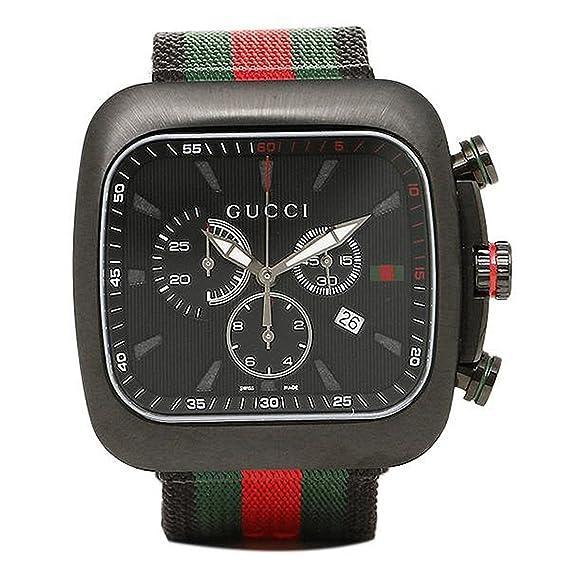 08eba018a136 Amazon   [グッチ] 腕時計 GUCCI YA131202 ブラック マルチ [並行輸入品 ...