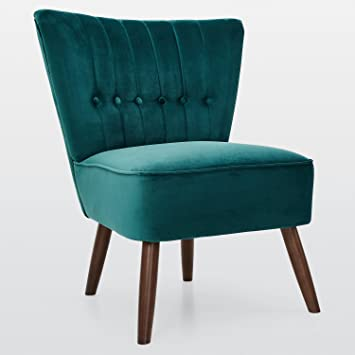 Ella Velvet Arm Chair, Bedroom, Living Room (Emerald Green Velvet)
