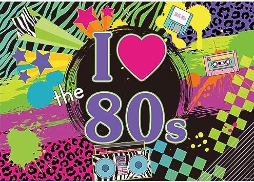 Allenjoy I Love The 80s Party Hintergrund Für Bilder Kamera