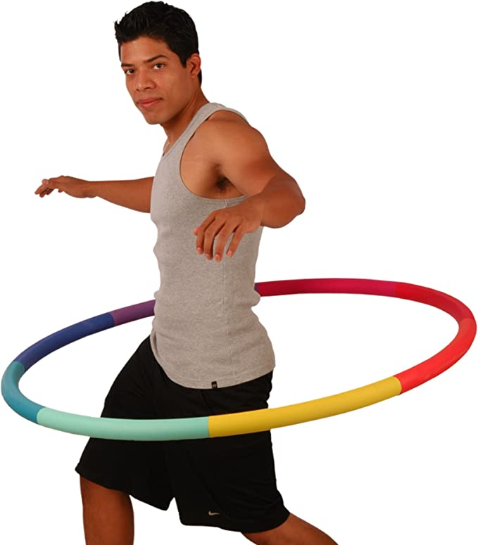 Home Stomach Shaping Sfee Hula Ring Hoops 52inch Adjustable Smart Hula Hoop for Weight Loss Exercise Fitness and Massage 24 Detachable Fitness Ring Hoop with Soft Gravity Ball for Fitness