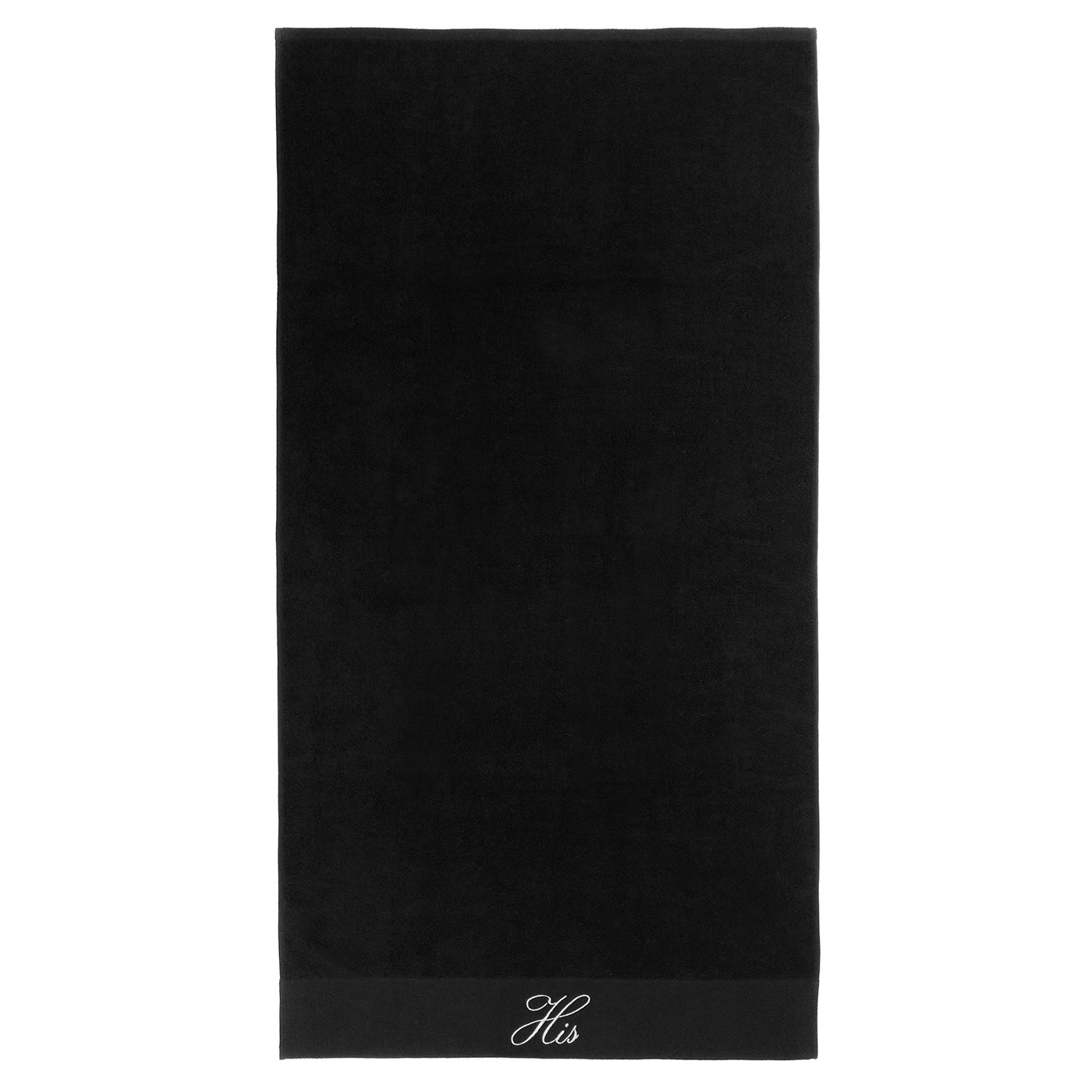 Kaufman - Terry Cloth Bathrobes 100% Cotton - His and Hers Embroidered Velour Shawl Set of Robes with His and Hers Black Towel Set 30''x58'' 4-PK by Ben Kaufman Sales (Image #5)