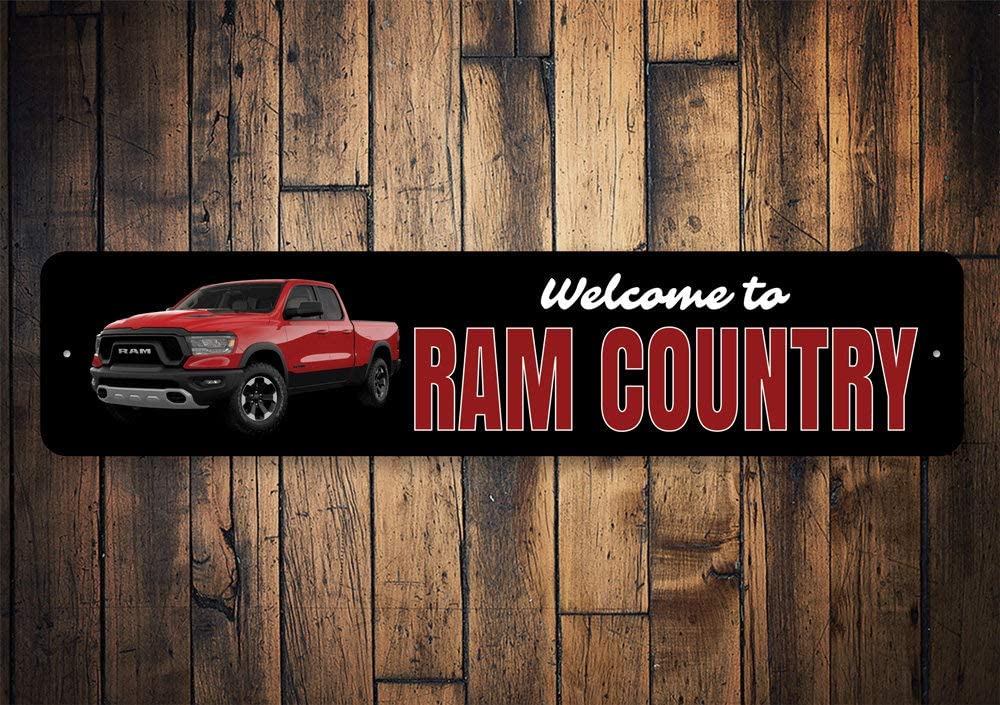Tin Signs Ram Truck Dodge Ram Lover Classic Truck Dodge Ram Decor Muscle Lovers Truck Lovers Car squality Aluminum Vintage Style Metal Poster Plaques for Funny Wall Decoration Art Sign Gifts - 4x18
