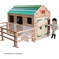 Lottie Puppenhaus Stall LT0742 mit echtem Holz und kinderfreundlichen, fröhlichen Farben