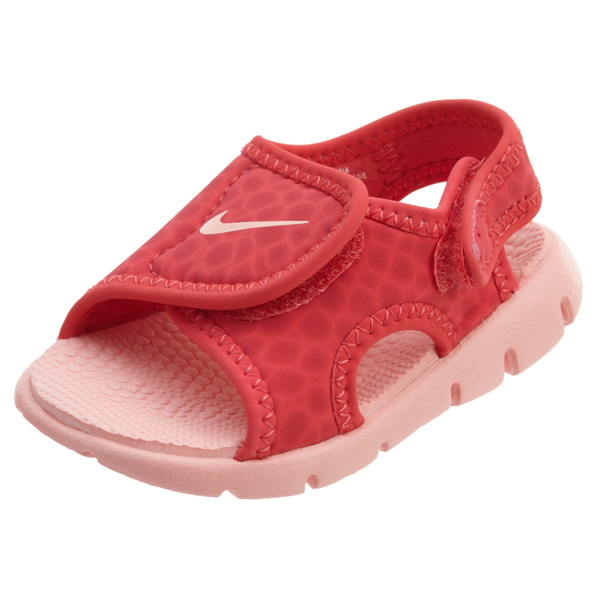 competitive price b97eb 1d42b Galleon - NIKE Sunray Adjust 4 (TD) Baby-Boys Slippers 386521-6085C -  Tropical PinkBleached Coral