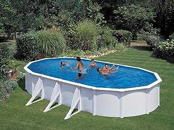 Gré - Kit piscina acero ovalada Atlantis blanca - 7.30 x 3.75 x 1.32 M: Amazon.es: Jardín