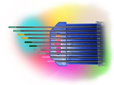 10 Tlg Wolfram Elektrode Wolframelektroden Wolframnadeln WC 20 1,6 x 175 mm Grau