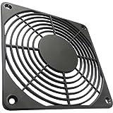 Aerzetix - 2 x griglia nera di protezione 120 x 120 mm ventilazione per ventilatore della COMPUTER PC C15129