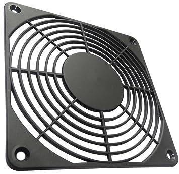 AERZETIX: 2x Rejilla negra de protección 120x120mm ventilación para ventilador de caja de ordenador PC C15129: Amazon.es: Electrónica