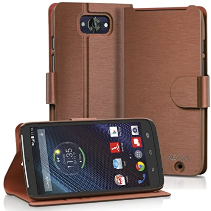 Motorola Droid Turbo Wallet Case - VENA [vSuit] Slim Fit Leather Case with Stand