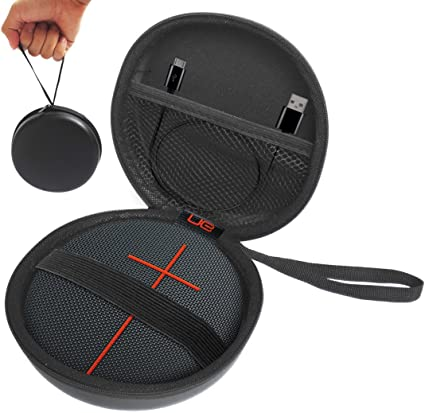 FitSand Hard Case Compatible for UE ROLL 8 Volcano Wireless Portable  Bluetooth Speaker(I and II 8 Gen) - Fits USB Cable