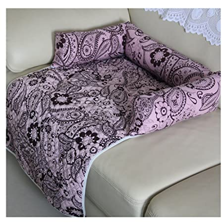 Saymequeen Flower Print Pet Mattress Dog Sofa Bed Cat Puppy Car Seat Cover