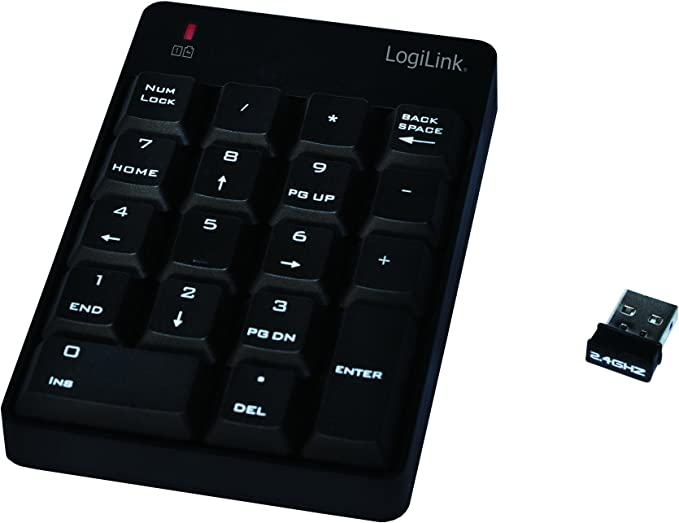 Logilink Id0120 Teclado Numérico Inalámbrico con 19 Teclas