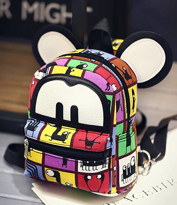 Amazon.com: basilion Cartoon Cute Lady pequeña mochila niño ...