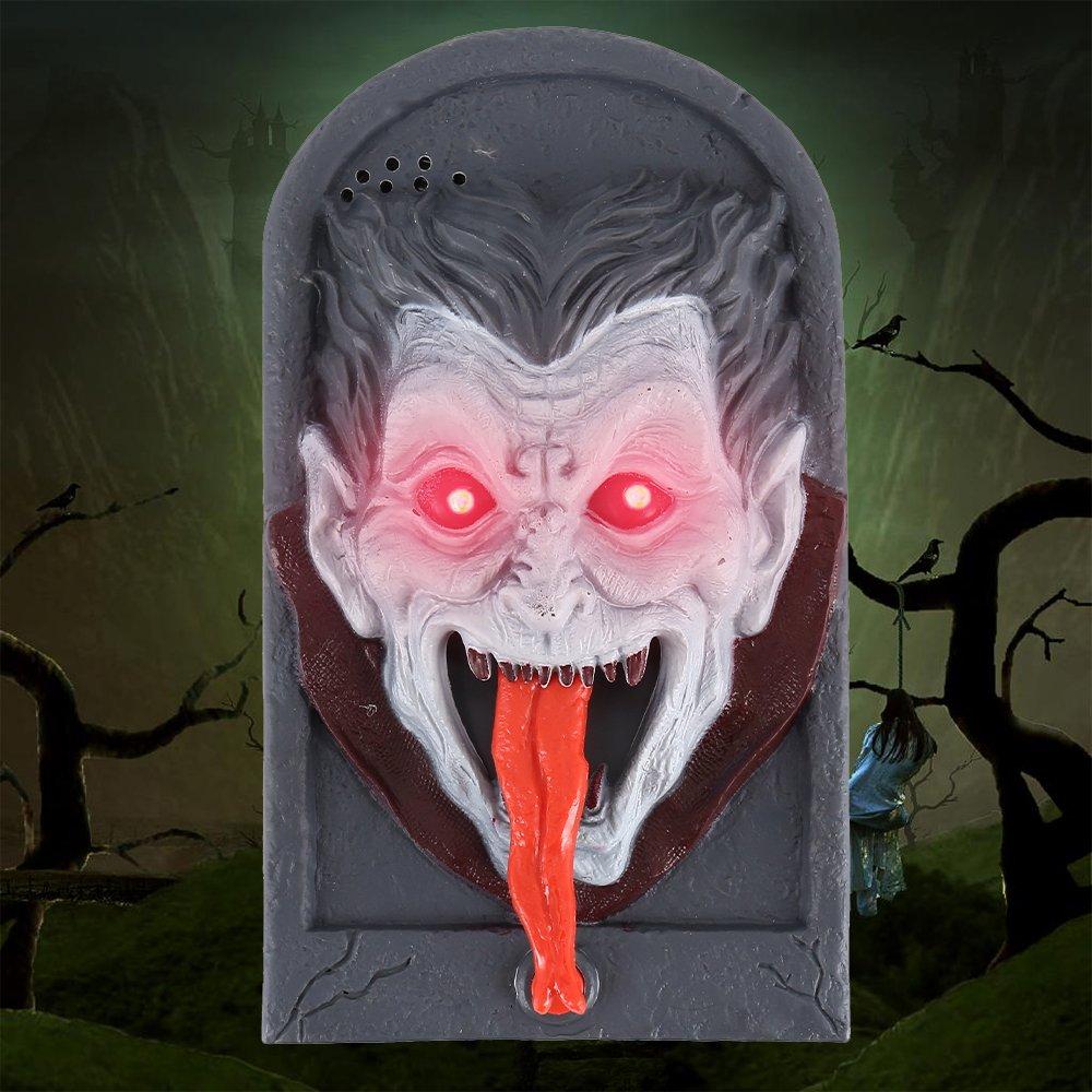 Hotbesteu Halloween Decoración Timbre Halloween Timbre de Puerta Decoración Habla Terror Aterrador para Las Decoraciones de la Puerta de la Barra del Partido Juguetes del Regalo de los Niños (cráneo)