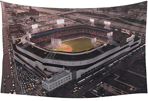 PUPBEAMO PRINTS Old Tigers Stadium, Detroit, Mi – Wall Tapestry Art For Home Decor Wall Hanging Tapestry 60×40 Inches