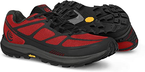 Red Black Topo Terraventure 2 Mens Trail Running Shoes