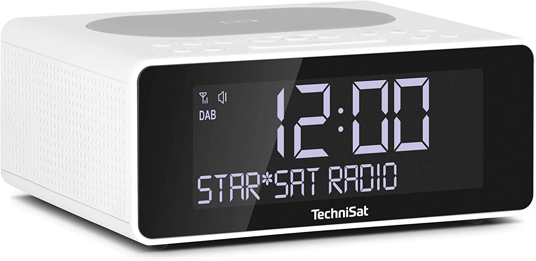 Technisat Digitradio 52 Stereo Dab Radiowecker Uhrenradio Wecker Dab Ukw Snooze Funktion Sleeptimer Dimmbares Display Wireless Charging Funktion Stereo Lautsprecher 2 X 1 W Weiß Heimkino Tv Video