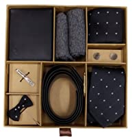 Blacksmith Striped Tie, Cufflink, Pocket Square, Socks, Lapel Pin, Tie Clip, Belt, Wallet, Set for Men