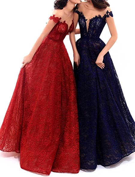 Lace Formal Dress Plus Size A Line Long Empire Waist Evening Prom Gown Sleeves Burgundy Size