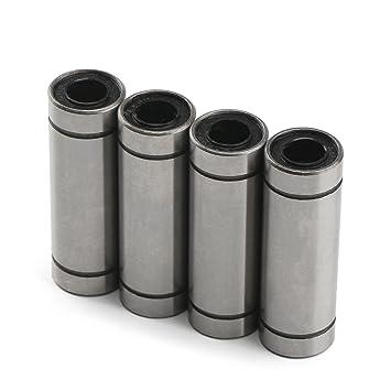 DROK reg; LM6LUU 4 Cojinetes de bolas lineales 6 x 12 x 35mm ...
