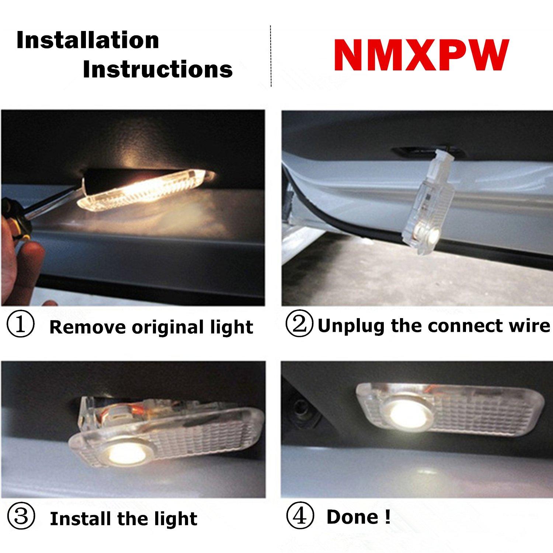 NMXPW 2 St/ück Autot/ür Logo T/ürbeleuchtung Einstiegsleuchte Projektor Licht Willkommen Licht