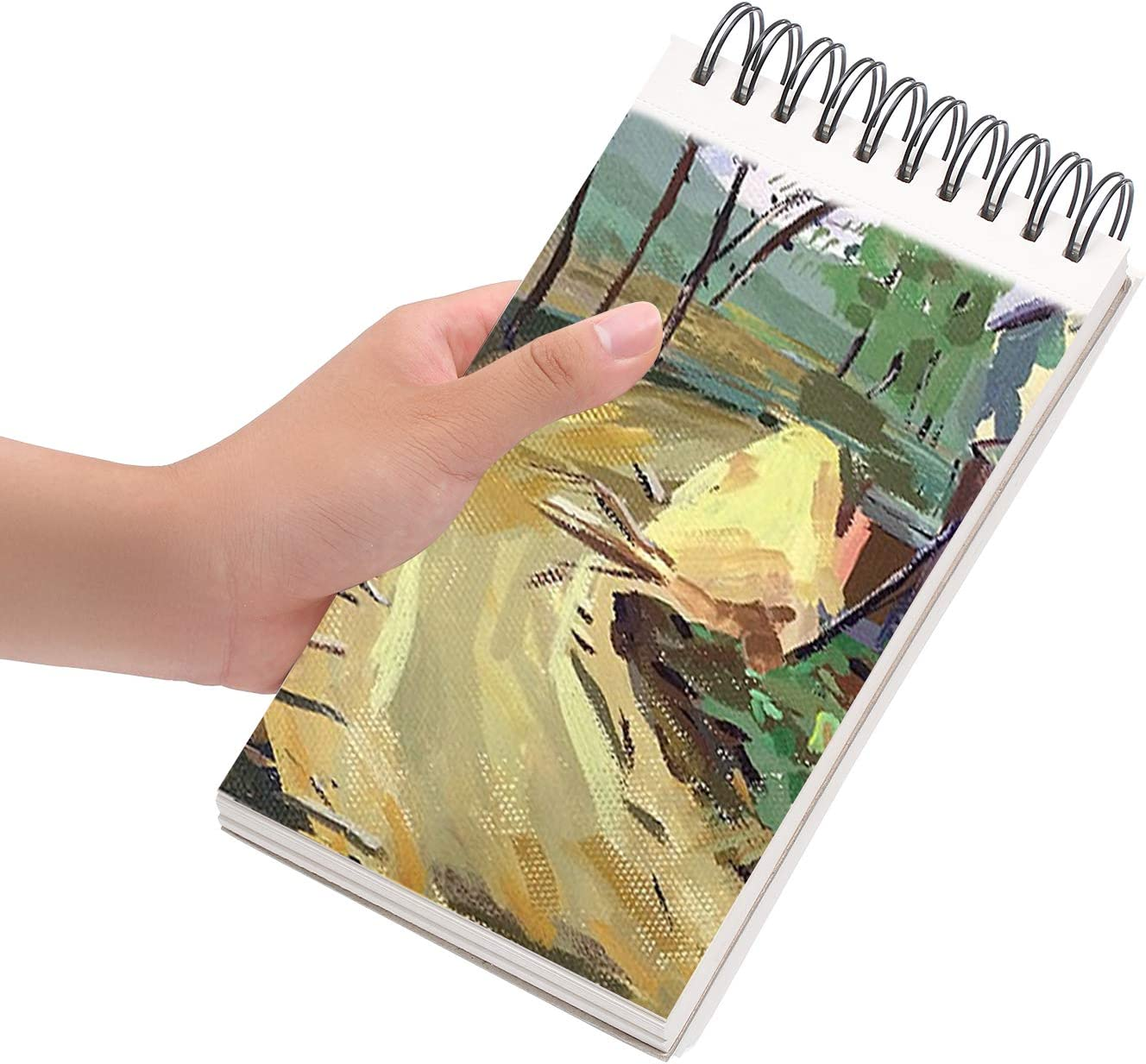 Marker Art Colored Pencil 100 Sheets of Spiral Bound Sketch Book for Artist Pro /& Amateurs Charcoal for Sketching Bachmore Sketchpad 8.5X5.5 Inch 68lb//100g