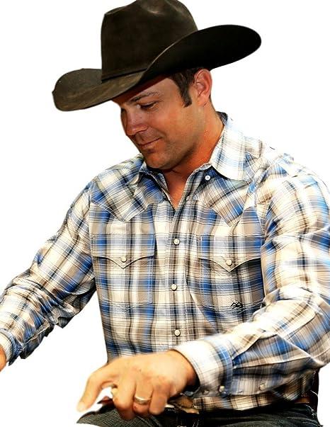 Miller Ranch Western Shirt Mens Button Long Sleeve Black DTW2201070