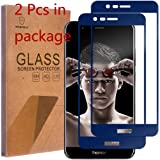 Honor 8 Pro Tempered Glass [Full Cover] [Blue] Screen Protector 2Pcs For Huawei Navy Blue By Senyoo[2 Pack][Ultra HD][Anti-Scratch][Pro Tempered Glass Seller]