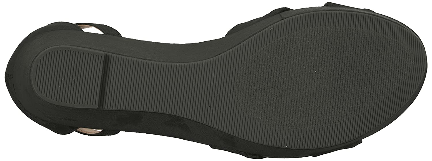 CL by Chinese Laundry Women's B(M) Devin Wedge Sandal B071ZBWJPK 10 B(M) Women's US|Black Suede 14c190