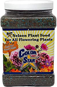 Nelson Plant Food For All Flowering Plants Annuals Perennials Bulbs Shrubs Indoor Outdoor Granular Fertilizer Color Star 19-13-6 (4 LB)