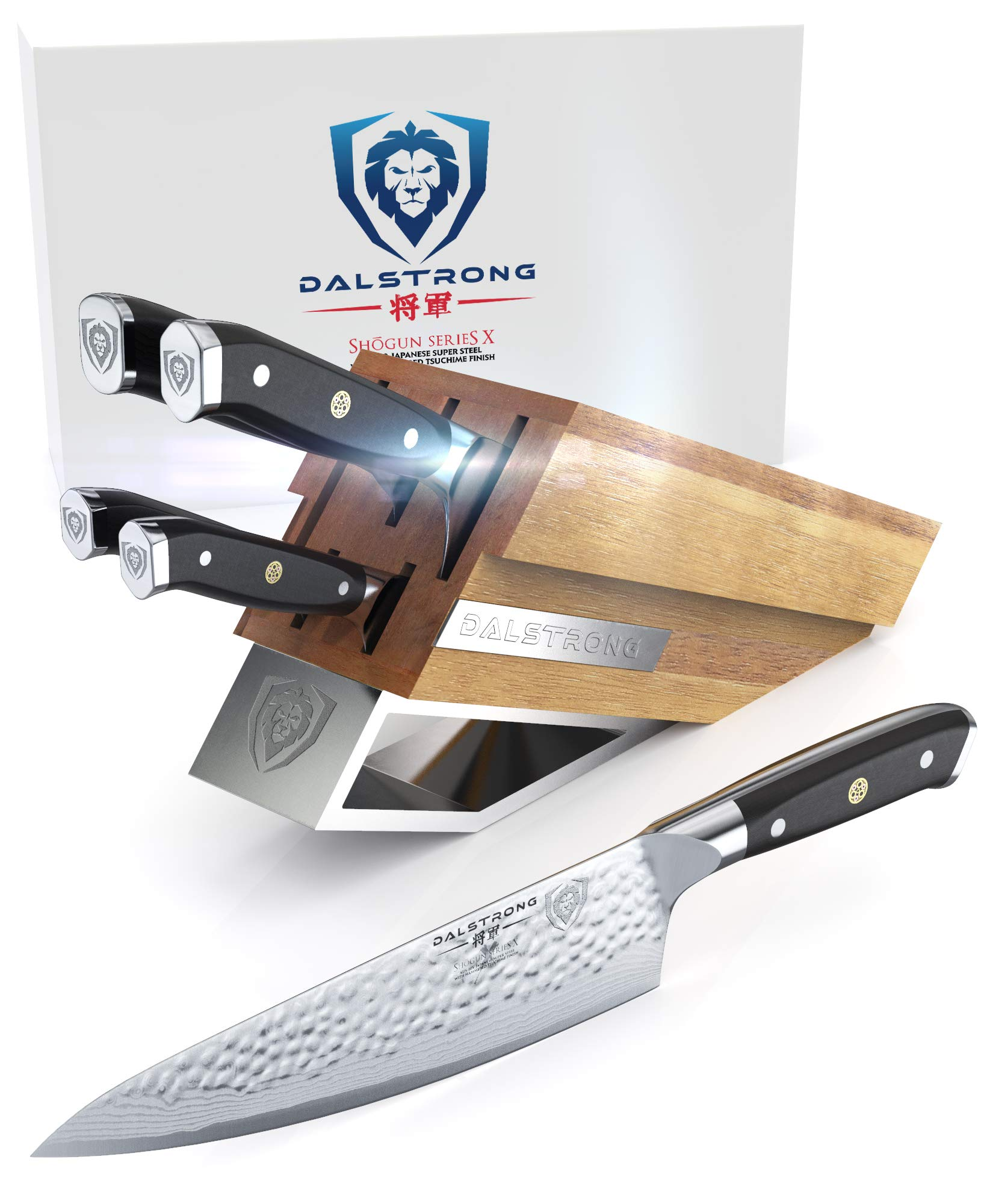 DALSTRONG Knife Set Block - Shogun Series X Knife Set - AUS-10V High-Carbon Japanese Super Steel - 5 pieces