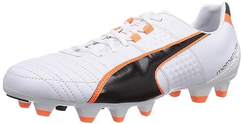Puma Momentta II FG Calcio scarpe da allenamento uomo Bianco Wei white blac