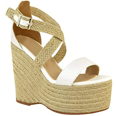 Summer Party Heel Sandals Espadrilles Fashion Size Womens High Wedge Thirsty O0nwkP