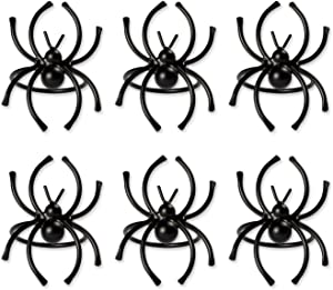 DII CAMZ37637 SPIDER NAPKIN RING SET/6, Set of 6, Halloween Black Piece