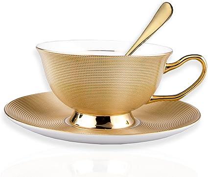 Pour sucre Dor/é Haudang Lot de 12 cuill/ères /à caf/é rondes en acier inoxydable dessert