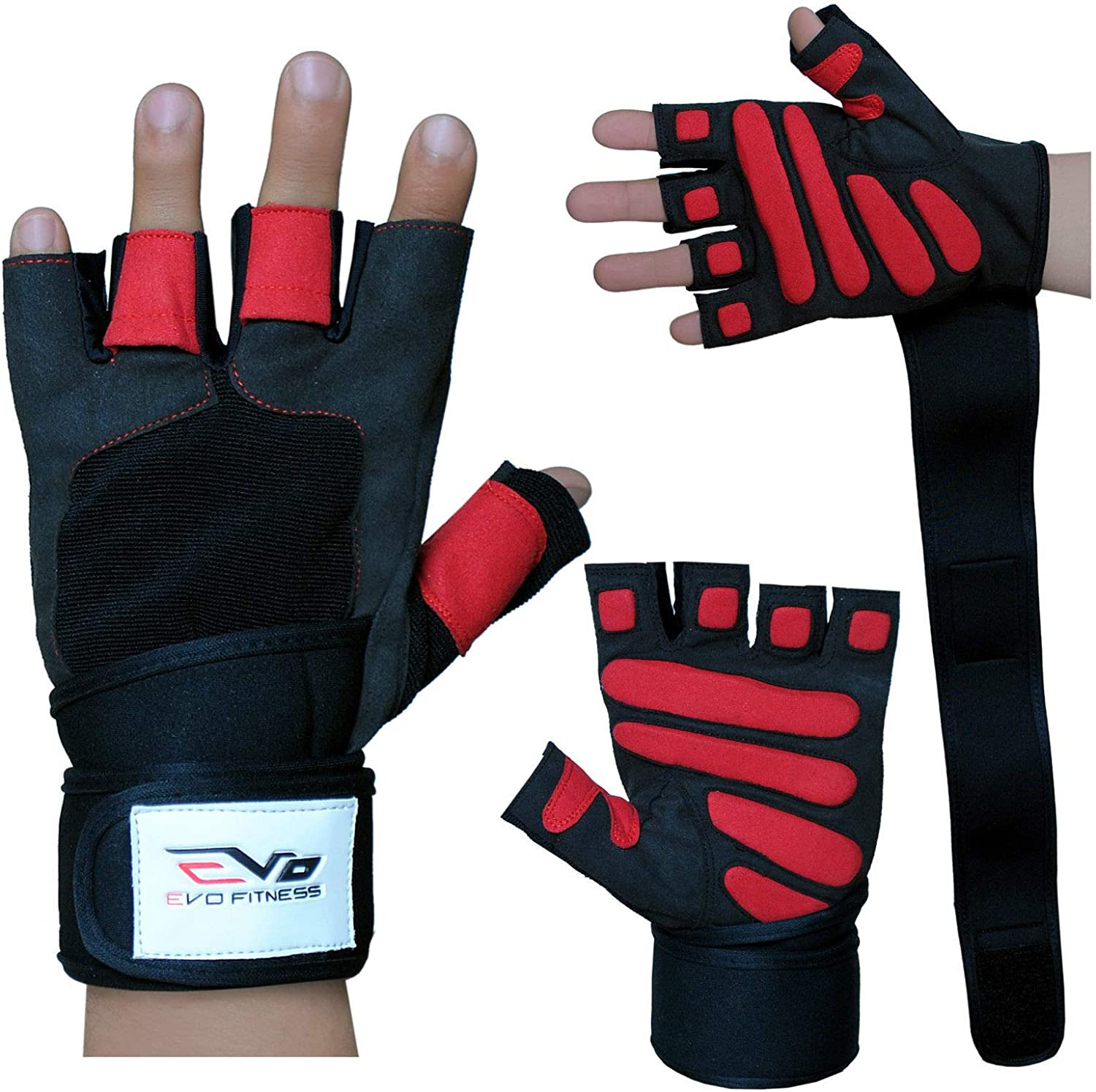 EVO Fitness Gym gloves Weightlifting Cycling Glove Bodybuilding wheelchair Grips