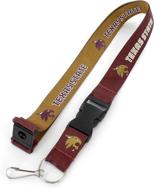 aminco NCAA Texas State Bobcats Reversible Lanyard