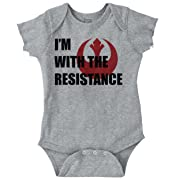 Brisco Brands with The Resistance Leia The Light Side Romper Bodysuit