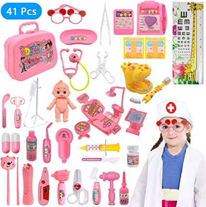 9 Piece//Set Simulation Dentist/'s Set Pretend Play Toy Children/'s Funny Gifts
